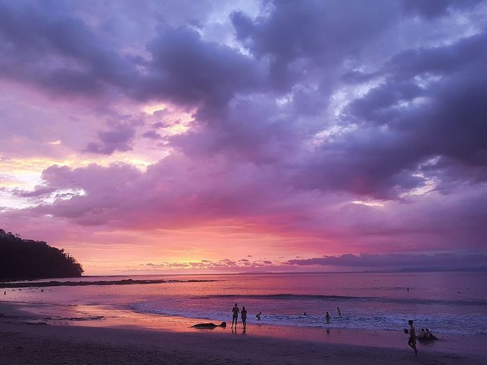 Sunset #Costa Rica #puntaleona #december  #samsungs7 #NoFilter Night Water Landscape Purple Outdoors Summer Vacations Beauty Sky Reflection