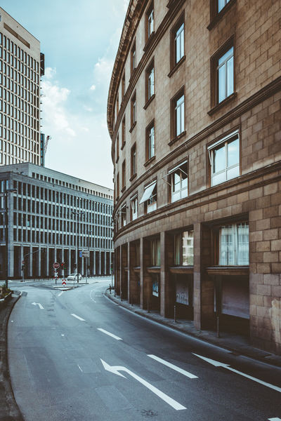 Architecture Building Exterior Built Structure City City Life Curve Day No People Office Building Outdoors Road Sky Street The Way Forward