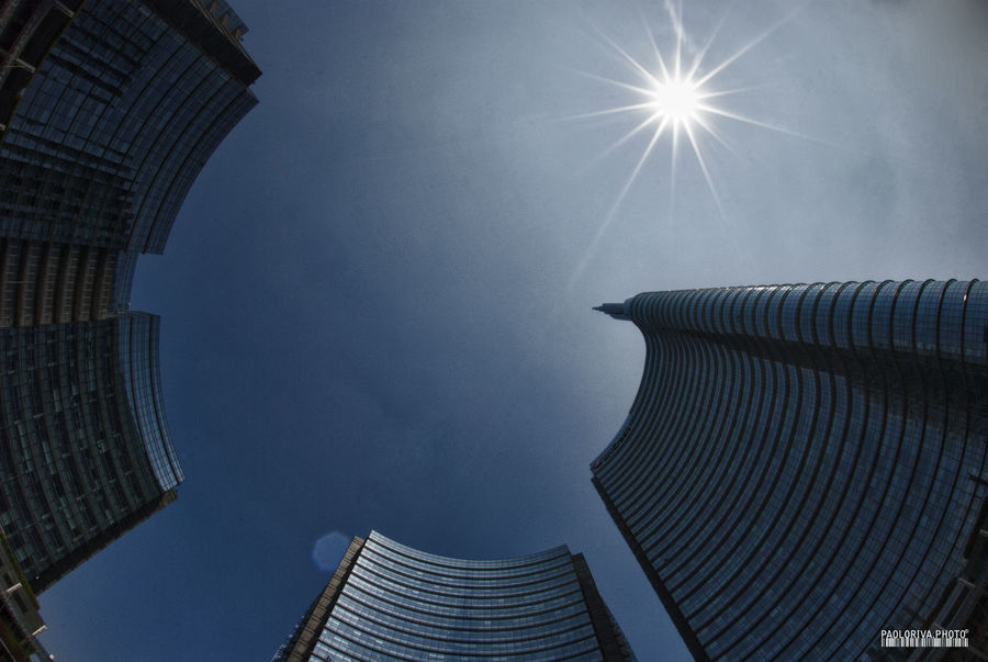 Milano Architecture Building Exterior Built Structure Gai Aulenti Place Low Angle View No People Outdoors Sunlight