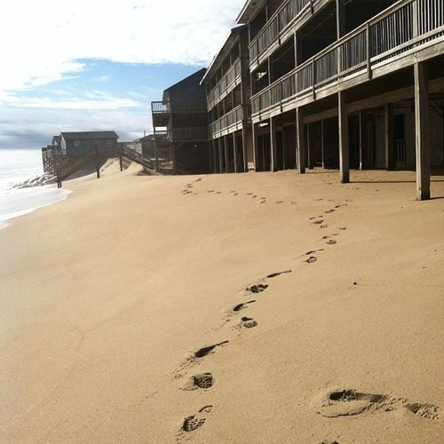 Only one set of footprints....never trust a hippie