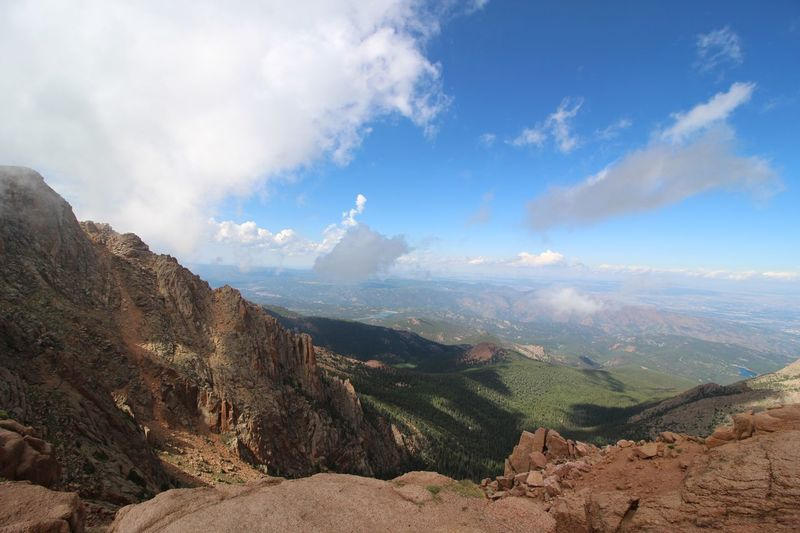 Pikes Peak Cloud - Sky Scenics - Nature Mountain Beauty In Nature Sky Tranquil Scene Tranquility