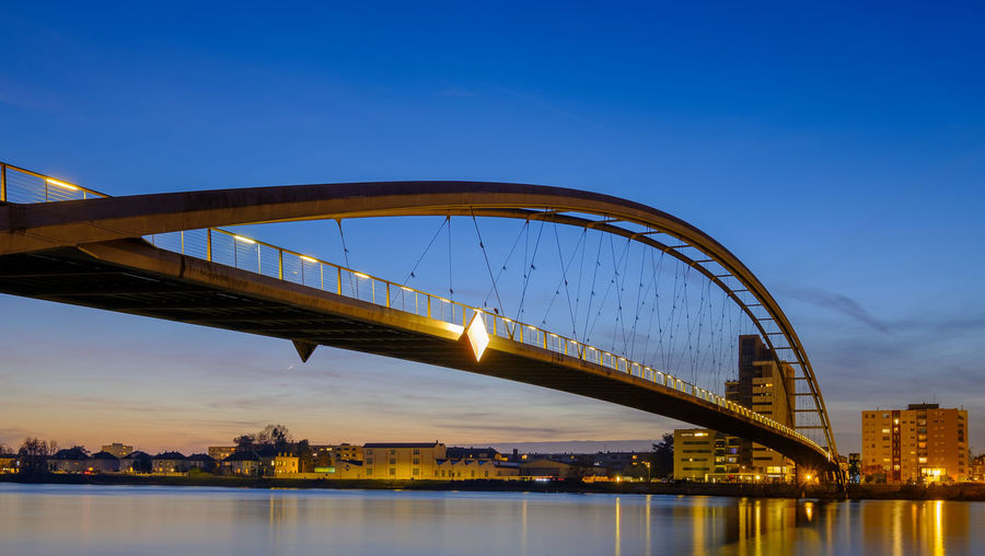 Langzeitbelichtung der Dreiländerbrücke in Weil am Rhein Architektur Architekturfotografie Baden-Württemberg  Bridge Brücke Deutschland Dreiländerbrücke Fuji Germany Langzeitbelichtung Sonnenuntergang Südbaden Weil Am Rhein X-t2 Architectural Photography Architecture Long Exposure Sundown Sunset Time Exposure Built Structure Sky Bridge - Man Made Structure Connection Water Building Exterior River Travel Destinations City Waterfront