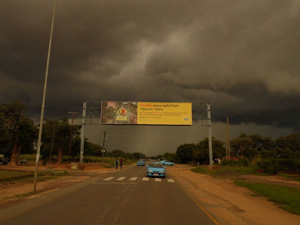 Cloud - Sky Day Dramatic Sky Livingstone  No People On The Road Outdoors Road Road Sign Sky Storm Cloud Zambia