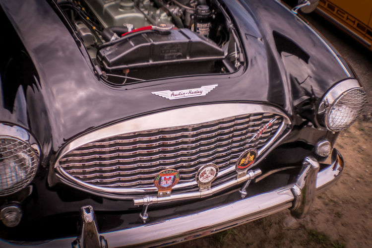 Antique Car Austin Healey EyeEmNewHere Car Close-up Day Headlight Land Vehicle Luxury Mode Of Transport No People Outdoors Transportation