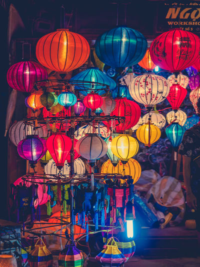 Illuminated Multi Colored Decoration Lighting Equipment Hanging Night Lantern Indoors  No People Celebration Large Group Of Objects Variation Choice Sphere Focus On Foreground Chinese Lantern Abundance Red Retail  Light Nightlife Electric Lamp