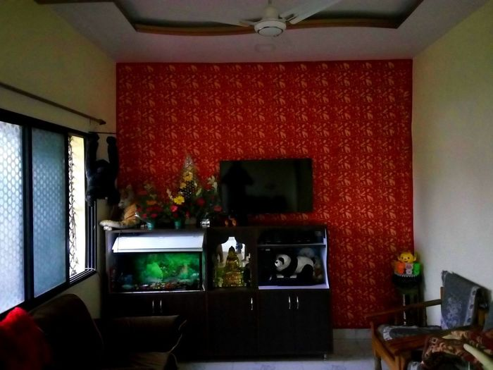 Heyyyy, Home Decor Wall Decor Interior Style Stuffed Animals Samsung Led Tv Wall Design Fish Tank Decoration Hall But Still A Lot To See In Nagpur,India