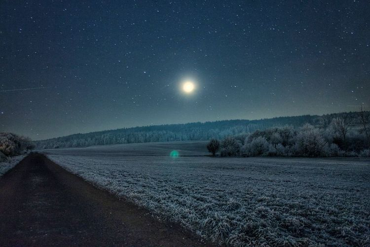 Night Vision... Night Space Star - Space Astronomy Rural Scene Nature Long Exposure Agriculture Field Constellation Landscape Sky No People Outdoors Canon EOS 1300D Lightroom Canonphotography Canon Hessen Germany Fulda Wintertime Winter Wonderland Cold Temperature