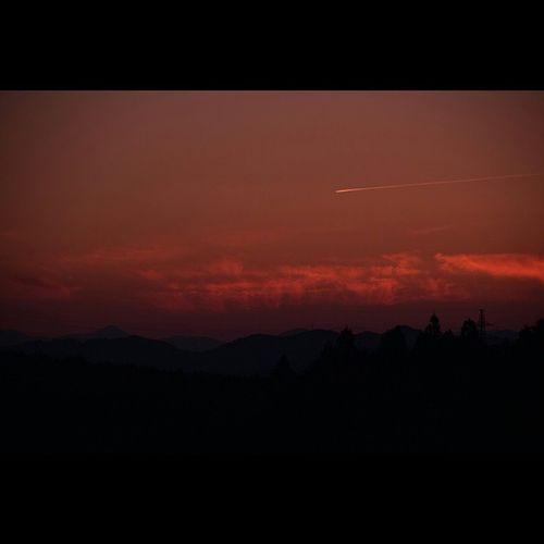 風景 夕暮れ 空