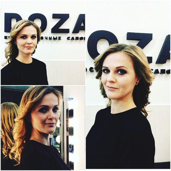 Make-up Beautiful Woman Hairstyle Beautysalon Nightsalone curls Tverskaya Street Moscow Beauty24 Non Stop Beauty Shop EyeEmNewHere Mobile Conversations