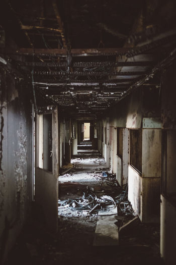 Alone In The Dark Dark Destruction Doors Trash Abandoned Abondoned Buildings Architecture Damaged darkness and light Day Destroyed Indoor Photography Indoors  Messy Moody No People Open Door