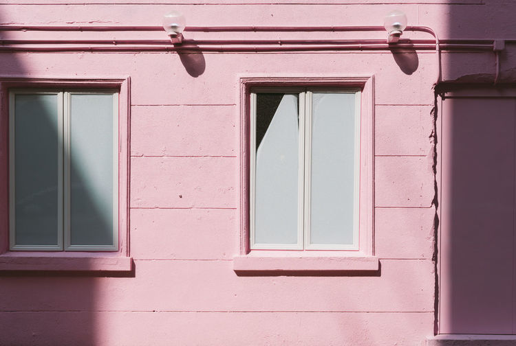 Colour Your Horizn Pastel Power Pink The Week on EyeEm Architecture Building Exterior Close-up Day Light And Shadow No People Window Windows