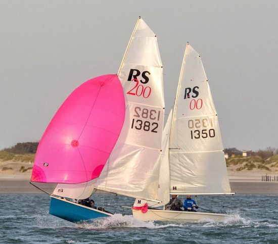 Heading off down the reach - Sailing Rs200 Chichester Harbour Evening Golden Hour Haylingislandsailingclub Dinghy Racing