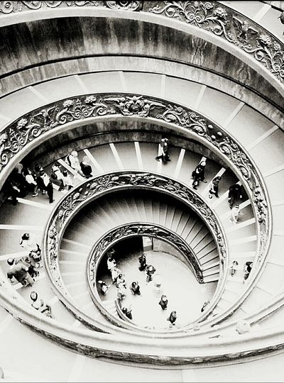 Fine Art Photography First Eyeem Photo Italy Rome Rome Through My Eyes Vatican City Of God Vatican Museum Stairs Spiral Staircase People And Art
