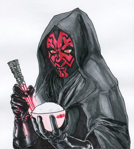 This is the picture that my husband drew. Picture Illustration Starwars DarthMaul Sith