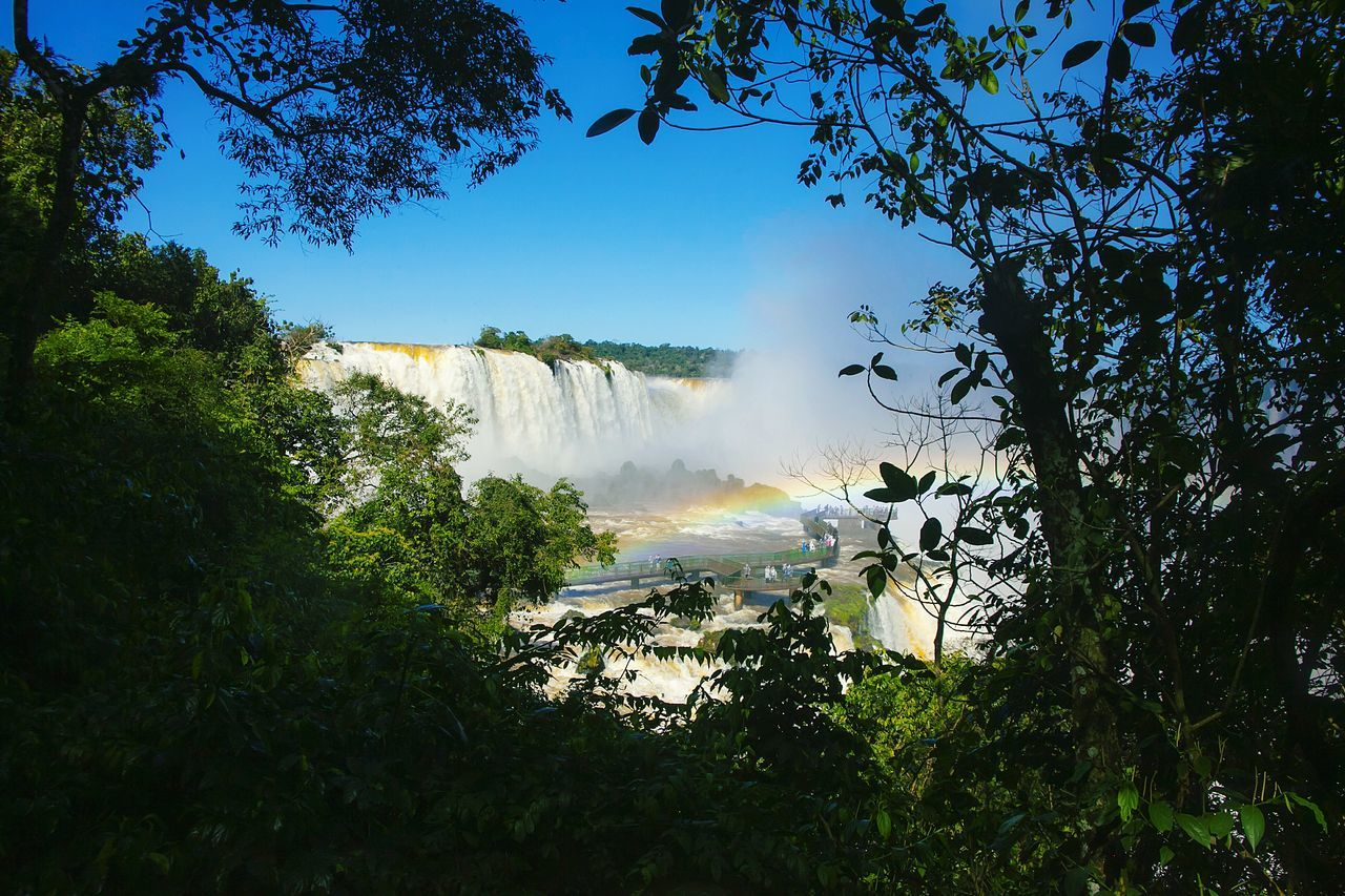 Majestic view of iguazu falls