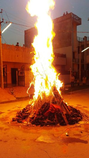 Holi Holka Flame Burning Heat - Temperature Built Structure Architecture Destruction Building Exterior No People Inferno Indoors  Day