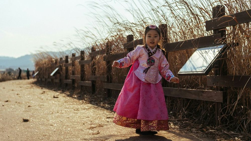 Hanbok Korea Traditional Dress 한복 조카 주남저수지 Junam Reservoir Korea