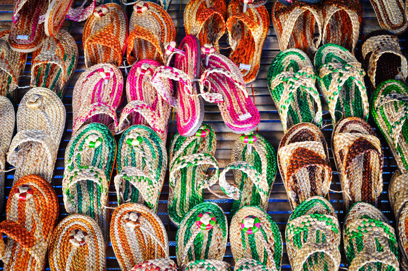 Colorful flip flop or sandal / flip flop weave from Natural materials Antique Art Background Beach Beauty Blue Casual Color Colorful Concept Copy Craft Culture Design Fashion Flip Flop Flops Foot Footwear Graphic Green Handmade Holiday Isolated Market Object Old Pair Pattern Pool Recreation  Relax Sand Sea Shoe Shop Slipper  Souvenir Space Style Summer Texture Tourism Travel Tropical Vacation Water White Yellow