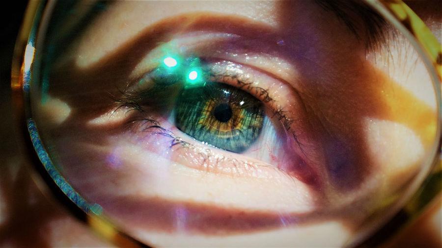 Eyeglasses Blue Eyes Close-up Day Eye Eyeball Eyelash Eyesight Frame Framed Full Frame Geek Heterochromia Human Body Part Human Eye Iris - Eye Looking Looking At Camera Macro Macro Photography One Person People Real People See Sensory Perception Vision The Portraitist - 2017 EyeEm Awards Place Of Heart Visual Creativity The Portraitist - 2018 EyeEm Awards