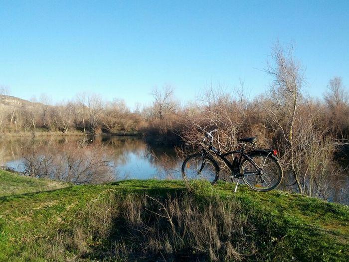 Winter Laguna Bicicleta Bicycle Invierno Lagoon Bicicleteando Agua Ebro Bici