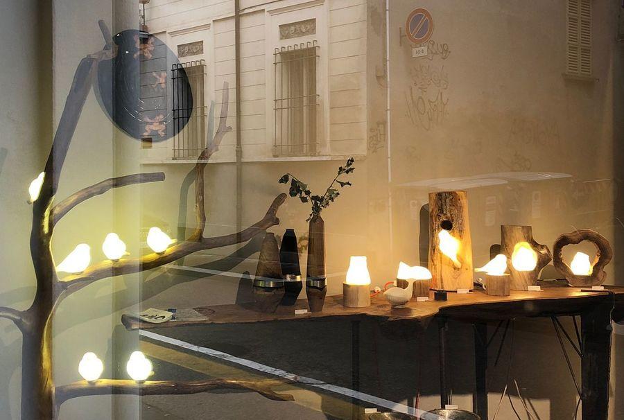 Through the glass... Lighting Birds Art Workshop Lighting Equipment Glowing Indoors  No People Table