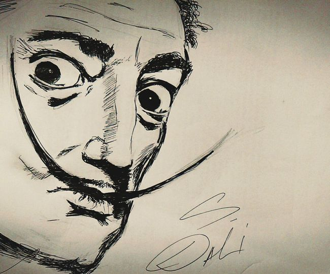 Check This Out Sketching Dalí Greatpainter Salvadordali Black & White Penandpaper