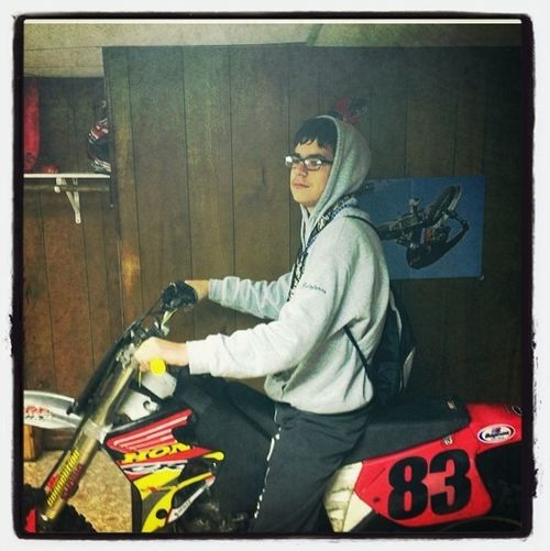 On A Dirtbike