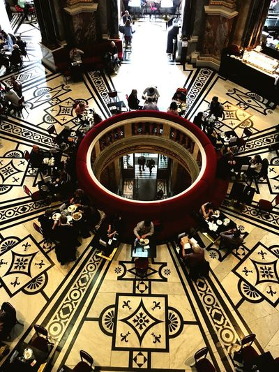 gerstner cafe vienna Cafe Architecture Built Structure High Angle View Building Exterior Geometric Shape Day Large Group Of People