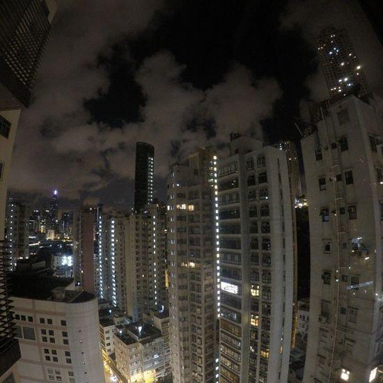 I love the Bendybuilding look Gopro Yesimobsessed Happyvalley Earlyhours Lightsout HongKong IShouldBeAsleep Nofilter Skyscrapers