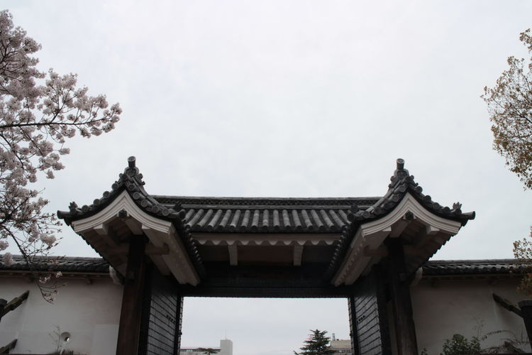 Architecture Building Exterior Built Structure Day Door Gateway Huge Door Japan Japan Photography Low Angle View No People OSAKA Osaka Castle Outdoors Roof Sky Travel Destination Tree