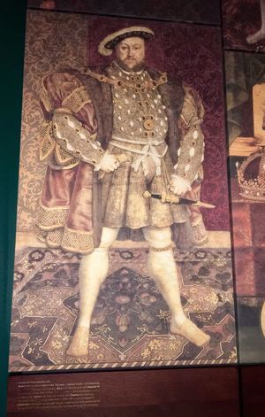 Henry VIII. I got told off for taking this picture and asked to delete it. Which I did of course, then restored it.... thank you iPhone. Human Representation Indoors  Tower Of London King King Of England Henry VIII London