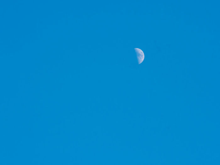The moon with