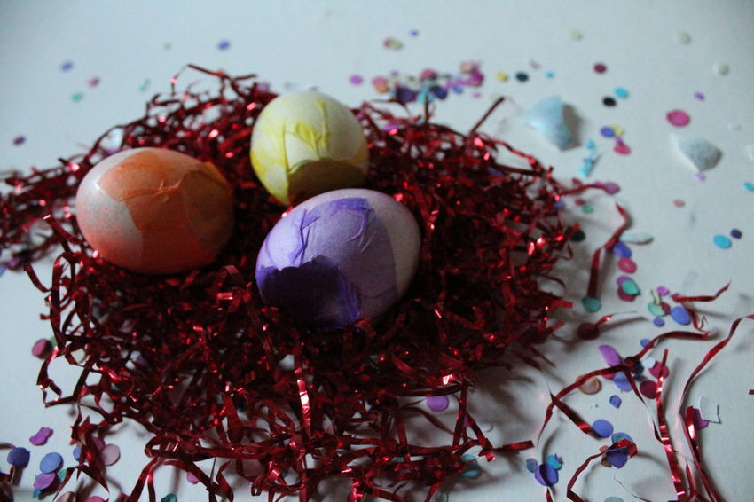 Celebration Studio Shot No People Multi Colored Easter Close-up Easter Eggs Easter Ready Egg Easter Hunt Holiday Confetti Colorful Bright Advertisment White Background Celebration Eggshell High Angle View NoEditNoFilter
