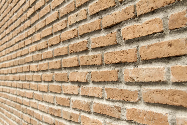 Architecture Backgrounds Brick Brick Wall Building Exterior Built Structure City Close-up Construction Material Day Full Frame No People Outdoors Painted Image Pattern Red Space Textured  Textured Effect Wall - Building Feature White Color