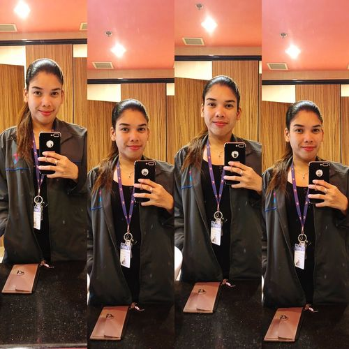 Be happy with what you have while working for what you want. 😊 Positivevibes Positivityallround Endofshiftmadness Mirrorselfie Contentment EOS Adulting #Work