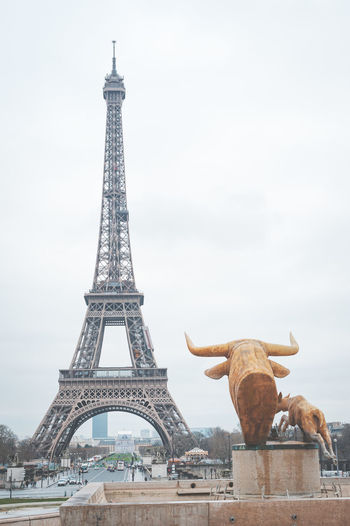 Tower Eiffle in Paris France Architecture Built Structure Travel Destinations Tourism The Past Tower City History Travel Tall - High Sky Day Building Exterior Representation Memorial Architectural Feature Nature No People Outdoors Iron Paris France Tower Eiffel Eiffel Tower Cloud - Sky Cold Temperature