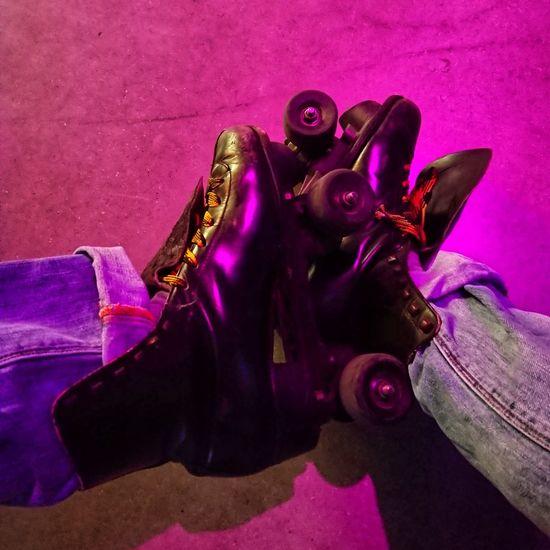 Skatenight Halle 45 Rollerskates Skate Roll On Halle 45 Pink Color Purple Close-up