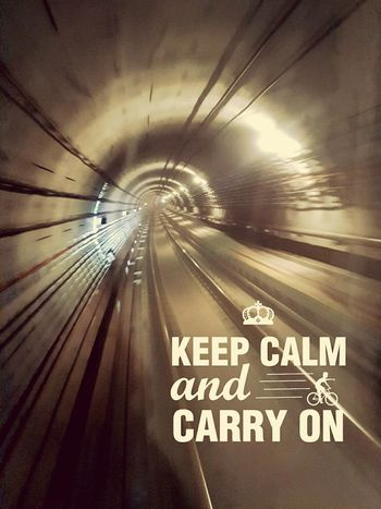 Communication Travel Text Transportation Tunnel No People Subway Train Indoors  Exit Sign Day Keep Calm Keep Calm And Carry On ❤️ Illuminated Transportation Motion Effect Speed