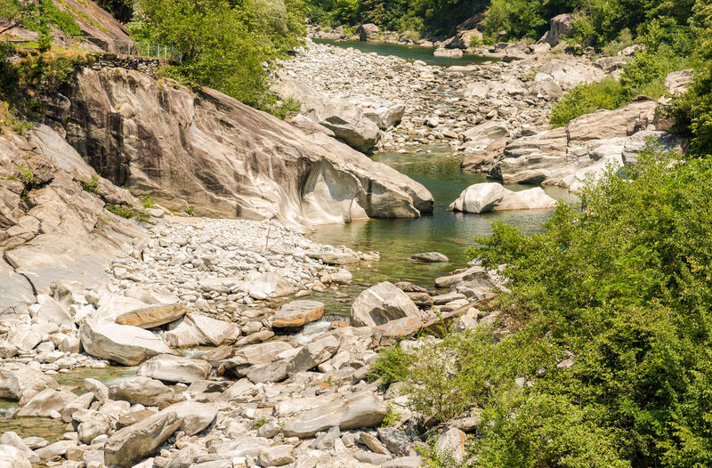 Scenic view of river amidst rocks