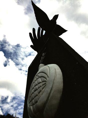 Grabbing the peace Costa Rica Peace Architecture Sculpture University For Peace