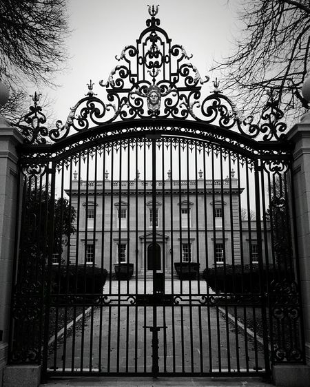 Black And White Collection  Clarendon Court Architecture_collection Black & White Gate Claus & Sonny Von Bulow's Estate EyeEm Gallery Tourist Attraction  EyeEm Wrought Iron Fencing Newport Rhode Island Reversal Of Fortune S6