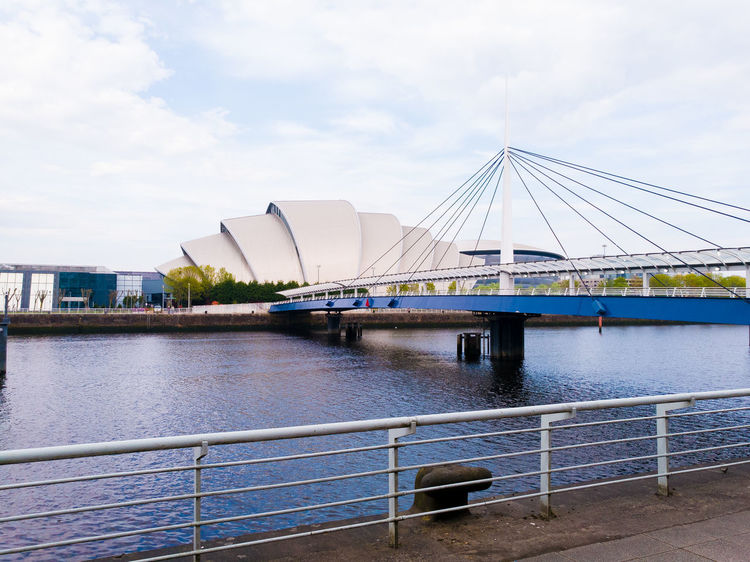 GLASGOW CITY Glasgow  Armadillo SECC Clyde River Bridge Water Architecture Structures Metal Steel