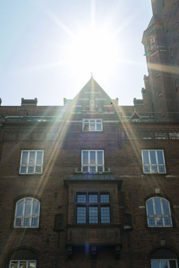 Architecture Bright Building Building Exterior Built Structure City Clear Sky Copenhagen Day History Lens Flare Low Angle View Nature No People Outdoors Residential District Sky Solar Flare Sun Sunbeam Sunlight Sunny Window