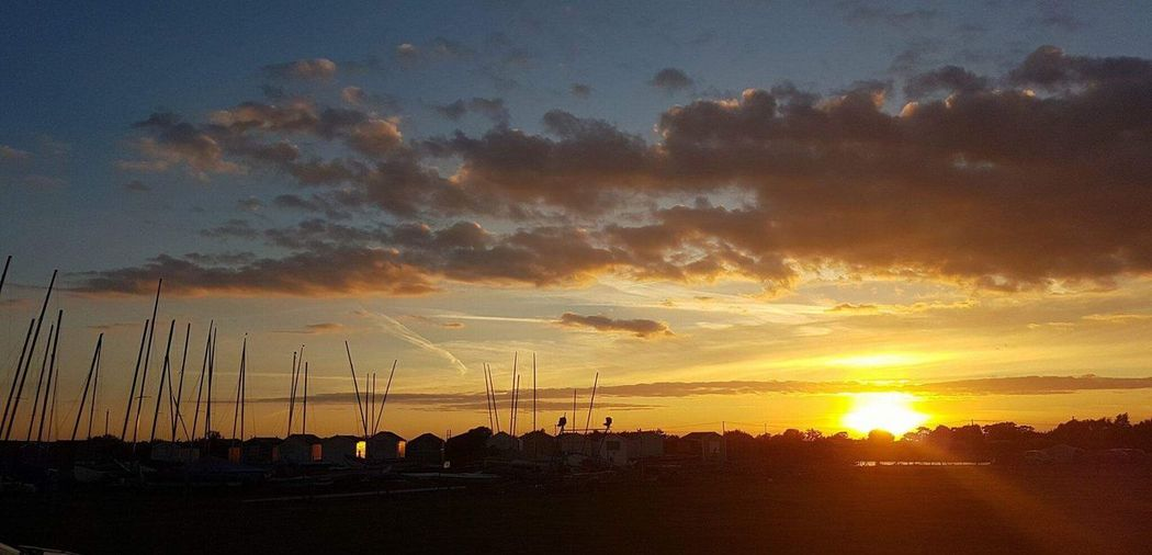 Silhouette Sunset Sky