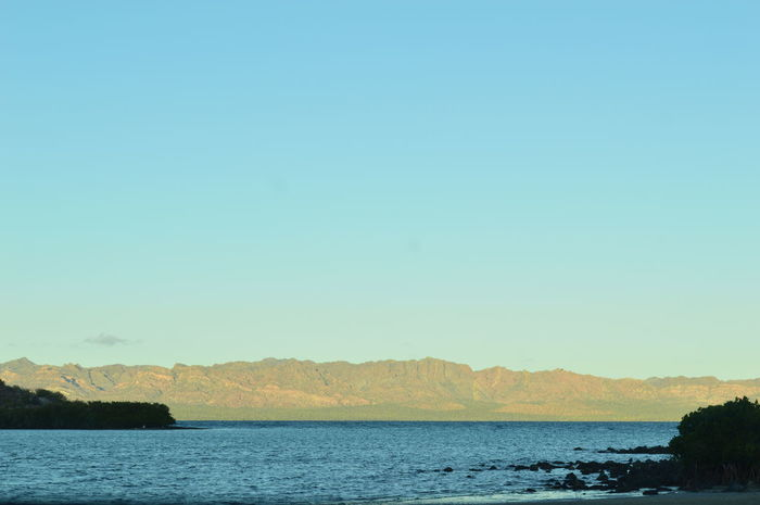 Playas de Bahía Concepción Beauty In Nature Blue Clear Sky Day Horizon Landscape Mountain Nature No People Outdoors Scenics Sea Sky Tranquil Scene Tranquility Water