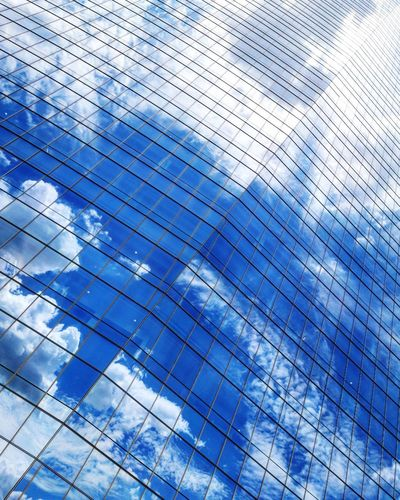 Backgrounds Blue Full Frame Pattern Textured  Sky Architecture Close-up Built Structure