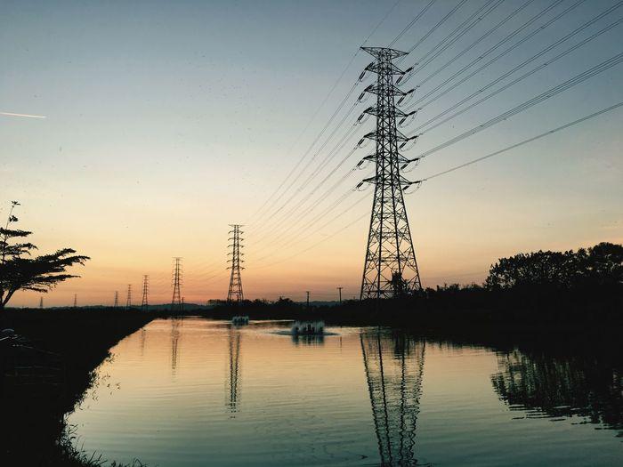 Landscape Taking Photos Enjoying Life Tower Electricity Pylon Reflection