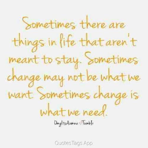 Good morning. Change