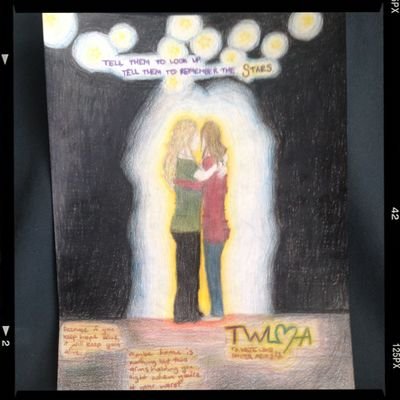 Another of my drawings... To Write Love On Her Arms Twloha Angels Love