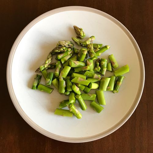 Asparagus Asparagus Food And Drink Food Vegetable Freshness Healthy Eating Still Life No People Green Color Plate Bowl Table Directly Above Indoors  Ready-to-eat Close-up